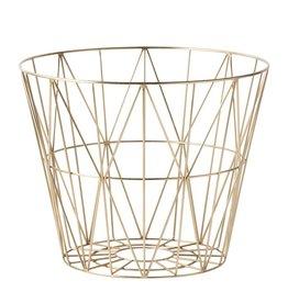 Opslag Wire Basket - Brass - Medium