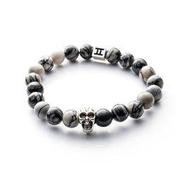 Juwelen Classic 8mm Skull Grey S