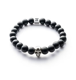 Juwelen Skull 8MM MAT BLACK M