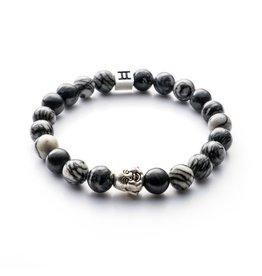Juwelen CLASSIC 8MM BUDDHA GREY S