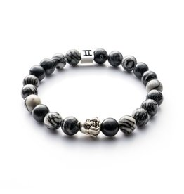 Juwelen CLASSIC 8MM BUDDHA GREY M