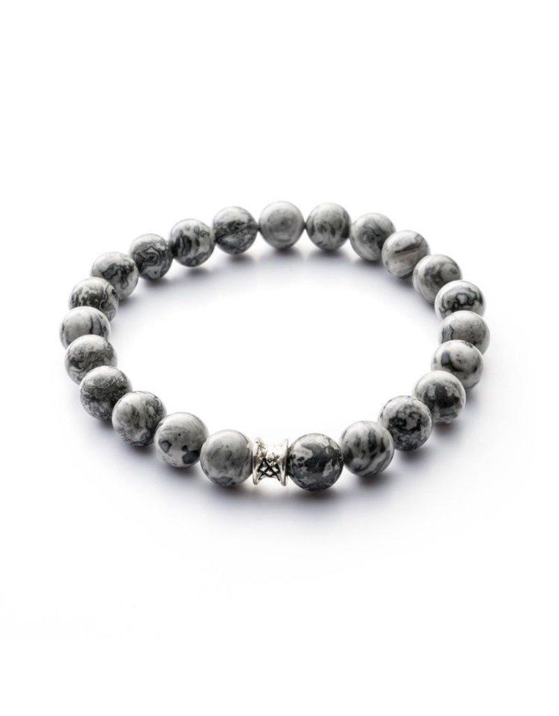 Juwelen Basic 8mm Grey S