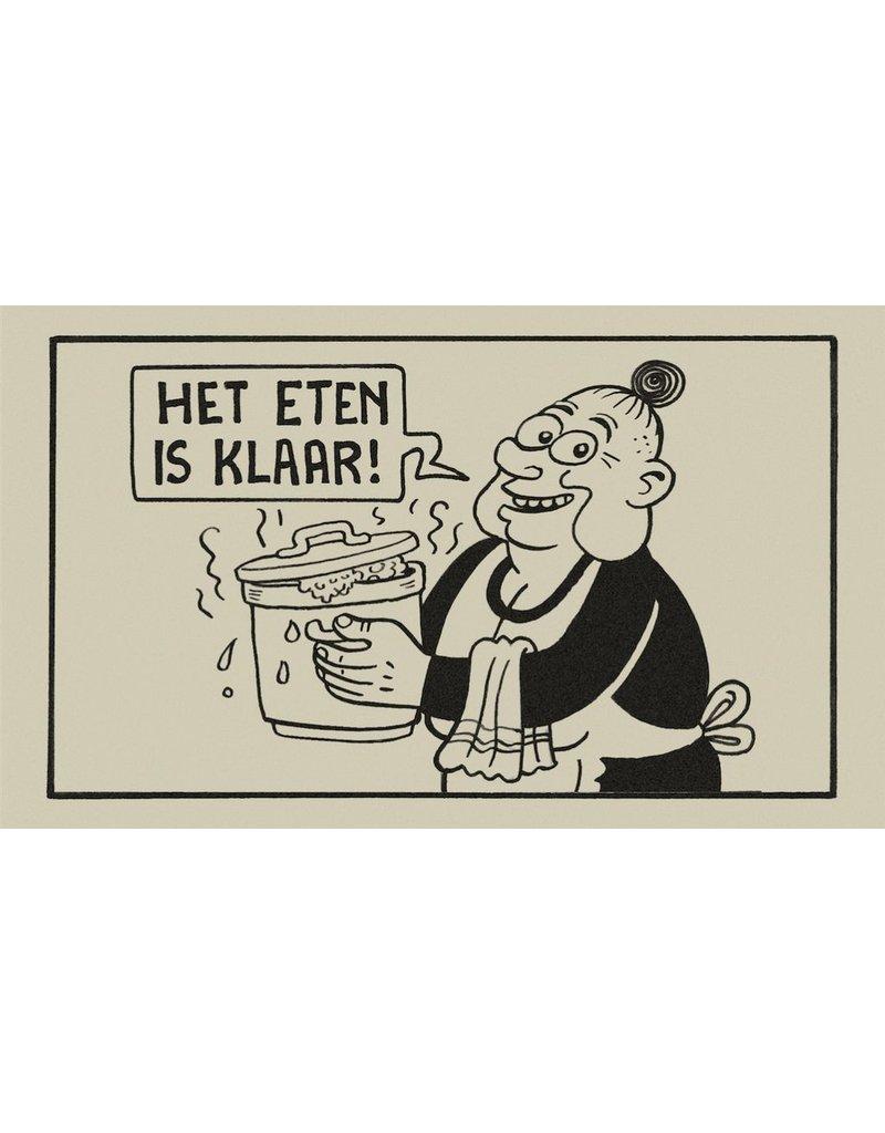 Tapijten CLEAN FEET - HET ETEN IS KLAAR - 75X45CM