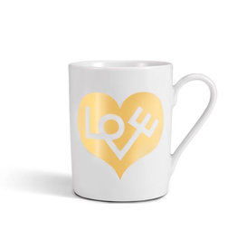 Keukengerei COFFEE MUG LOVE HEART GOLD