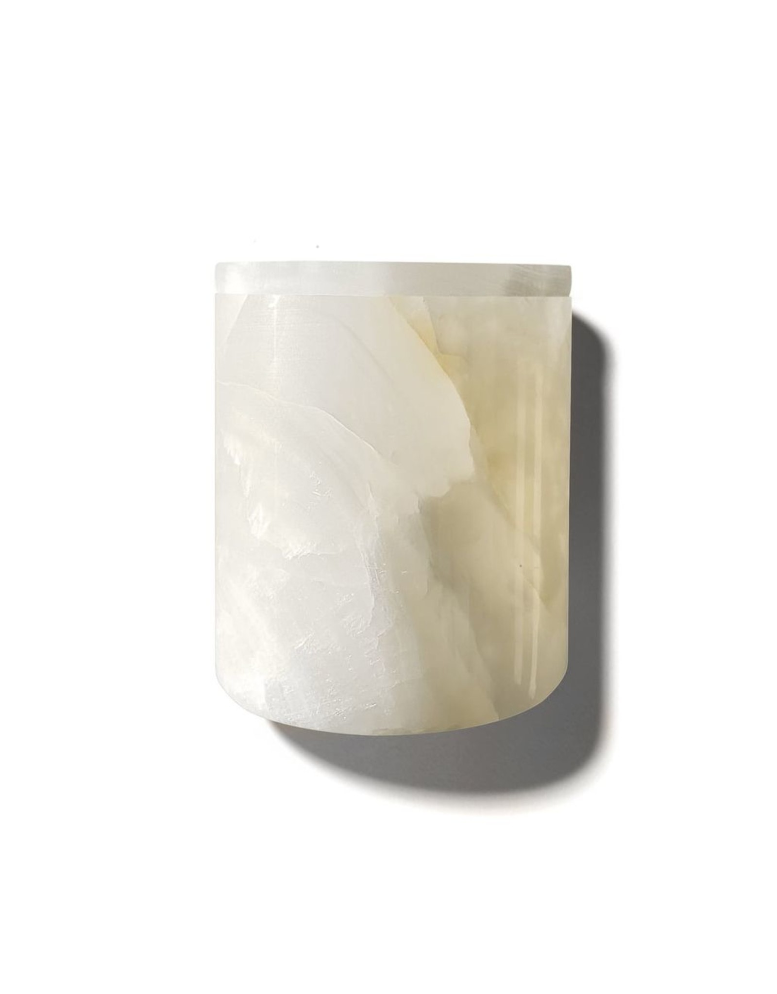 Kaarsen WHITE ONYX CANDLE HOLDER