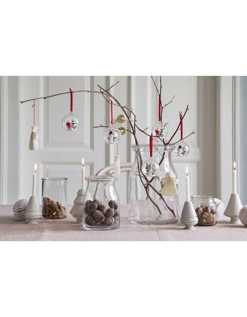 kerst Glass Santa Christmas Ornament (2pcs)