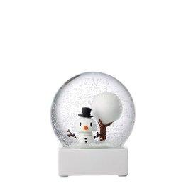 kerst WHITE SNOWMAN SNOW GLOBE