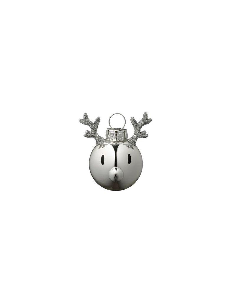 kerst Chrome Reindeer Christmas Ornament (3pcs)