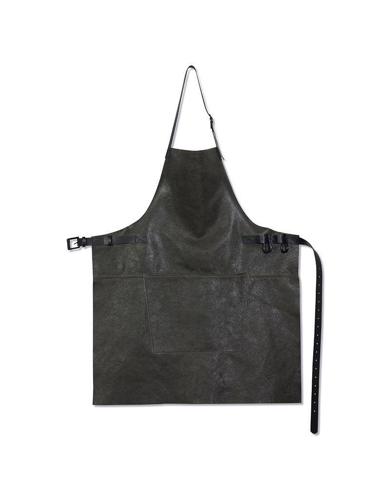 Keukengerei BBQ-STYLE APRONS - VINTAGE FULL GRAIN LEATHER - VINTAGE GREY
