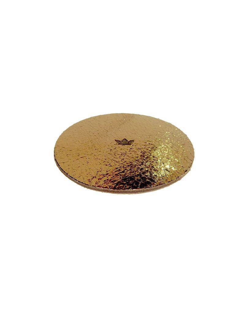 accessoires COOL COASTERS - FLASH COLLECTION GOLD CRAQUELE METALLIC SET/4