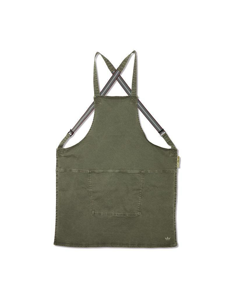 Keukengerei APRON - SUSPENDER SERIES - CANVAS GREY-GREEN