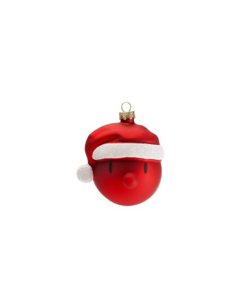 kerst RED SANTA CHRISTMAS ORNAMENT (2PCS.)