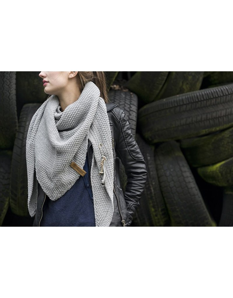 textiel COCO OMSLAGDOEK 190X85CM LICHTGRIJS