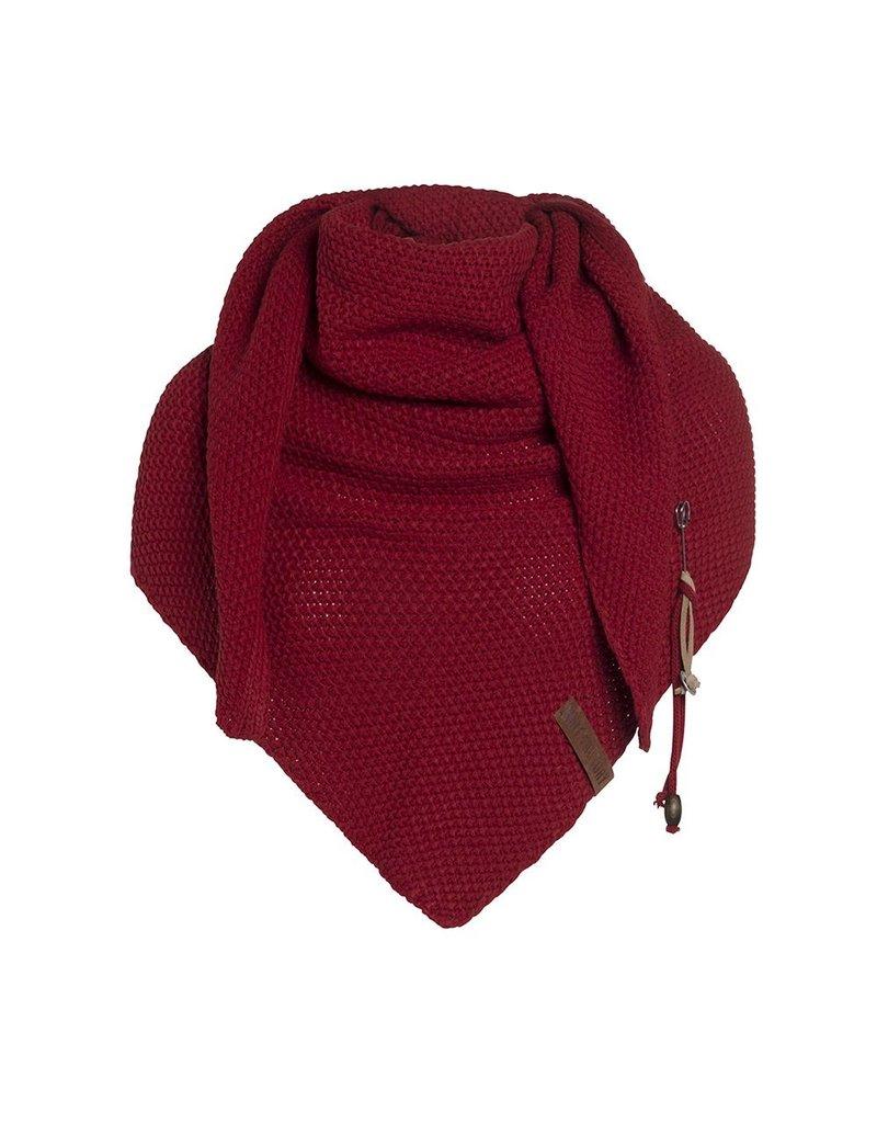 textiel COCO OMSLAGDOEK 190X85CM BORDEAUX