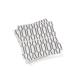servietten PAPER NAPKINS LARGE BROKEN LINES, BLACK (12st)