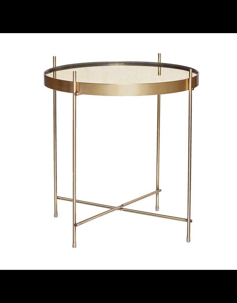 salontafel TABLE, ROUND, GOLD, METAL/MIRROR
