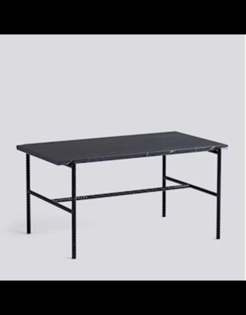 salontafel TABLE À CAFÉ REBAR / ACIER REVÊTEMENT POUDRE NOIRE SOUPLE NOIR L80 X L49 X H40.5