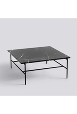 salontafel REBAR COFFEE TABLE / SOFT BLACK POWDER COATED STEEL MARBLE / L80 X W84 X H33