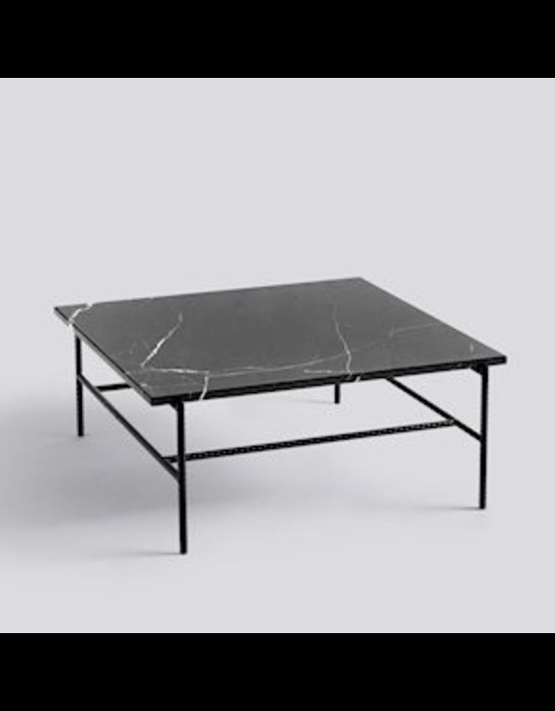 salontafel TABLE À CAFÉ REBAR / ACIER REVÊTEMENT POUDRE NOIRE SOUPLÉE NOIRE L80 X W84 X H33