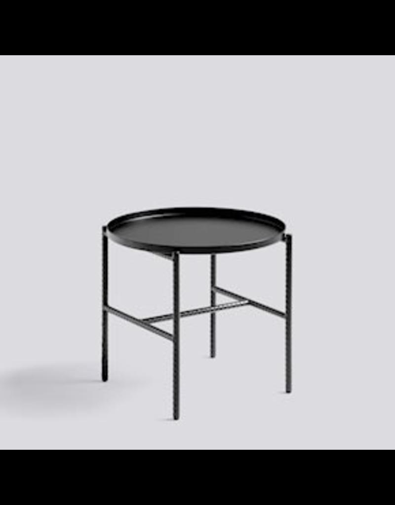 salontafel TABLE D'APPOINT REBAR / ACIER REVÊTEMENT POUDRE NOIRE SOUPLE NOIRE / ACIER REVÊTEMENT POUDRE NOIRE SOUPLE NOIRE / Ø45 X H40.5