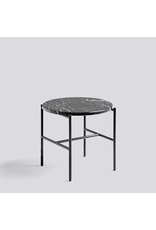 salontafel REBAR SIDE TABLE / SOFT BLACK POWDER COATED STEEL MARBLE / Ø45 X H40.5