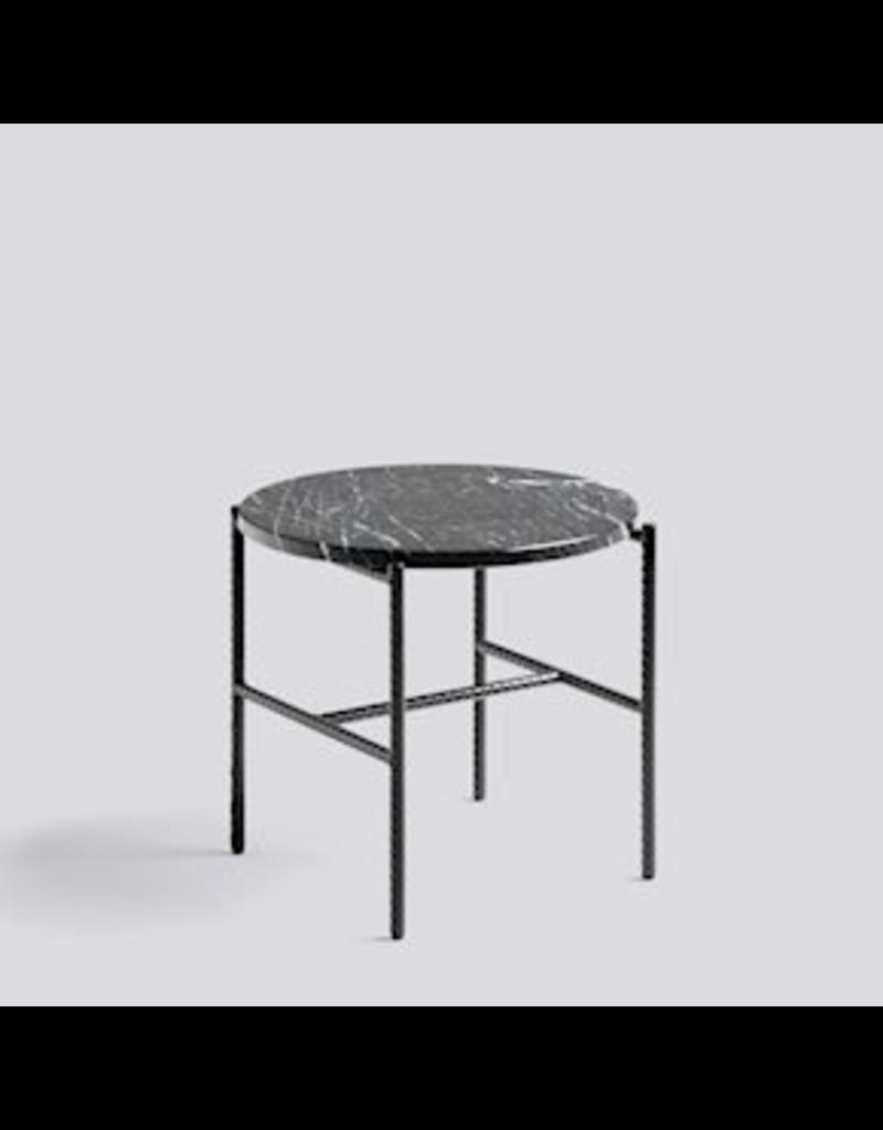 salontafel TABLE D'APPOINT DE RECHARGEMENT / ACIER REVÊTEMENT POUDRE NOIRE DOUX NOIR / Ø45 X H40.5