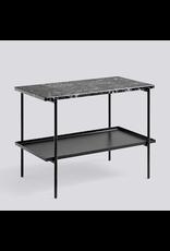 salontafel REBAR SIDE TABLE / SOFT BLACK POWDER COATED STEEL MARBLE / L75 X W44 X H55