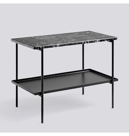 salontafel REBAR SIDE TABLE / SOFT BLACK POWDER COATED STEEL MARBLE / L75 X W44 X H55
