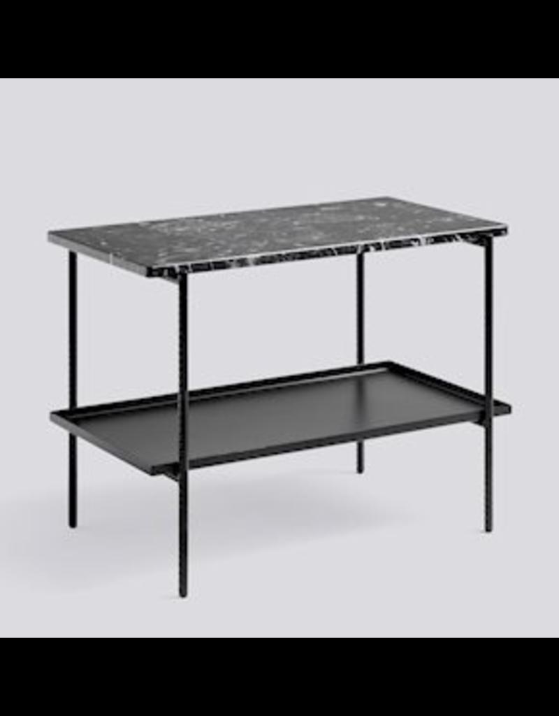 salontafel TABLE D'APPOINT DE RECHARGEMENT / ACIER REVÊTEMENT POUDRE NOIRE SOUPLE NOIRE L75 X W44 X H55