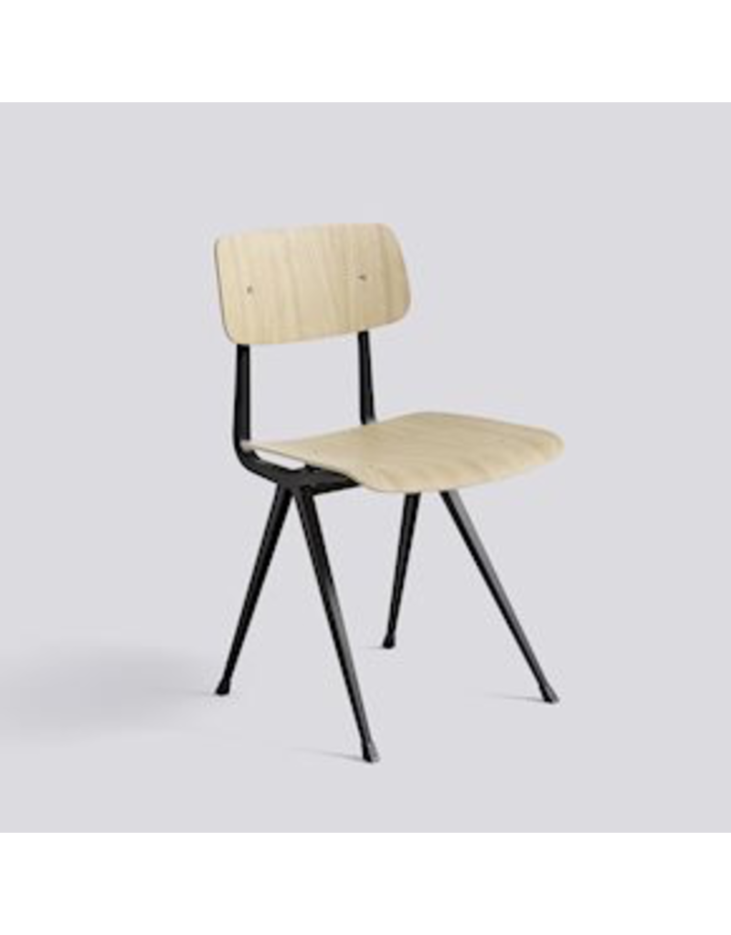 Stoelen RESULT CHAIR / BLACK POWDER COATED STEEL - MATT LACQUERED