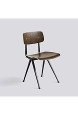 Stoelen RESULT CHAIR / BLACK POWDER COATED STEEL SMOKED