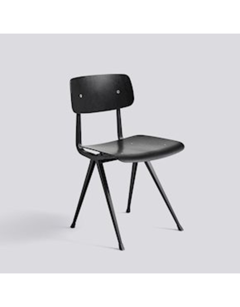 Stoelen RESULT CHAIR / BLACK POWDER COATED STEEL - BLACK STAINED