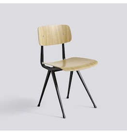 Stoelen RESULT CHAIR / BLACK POWDER COATED STEEL - CLEAR LACQUERED