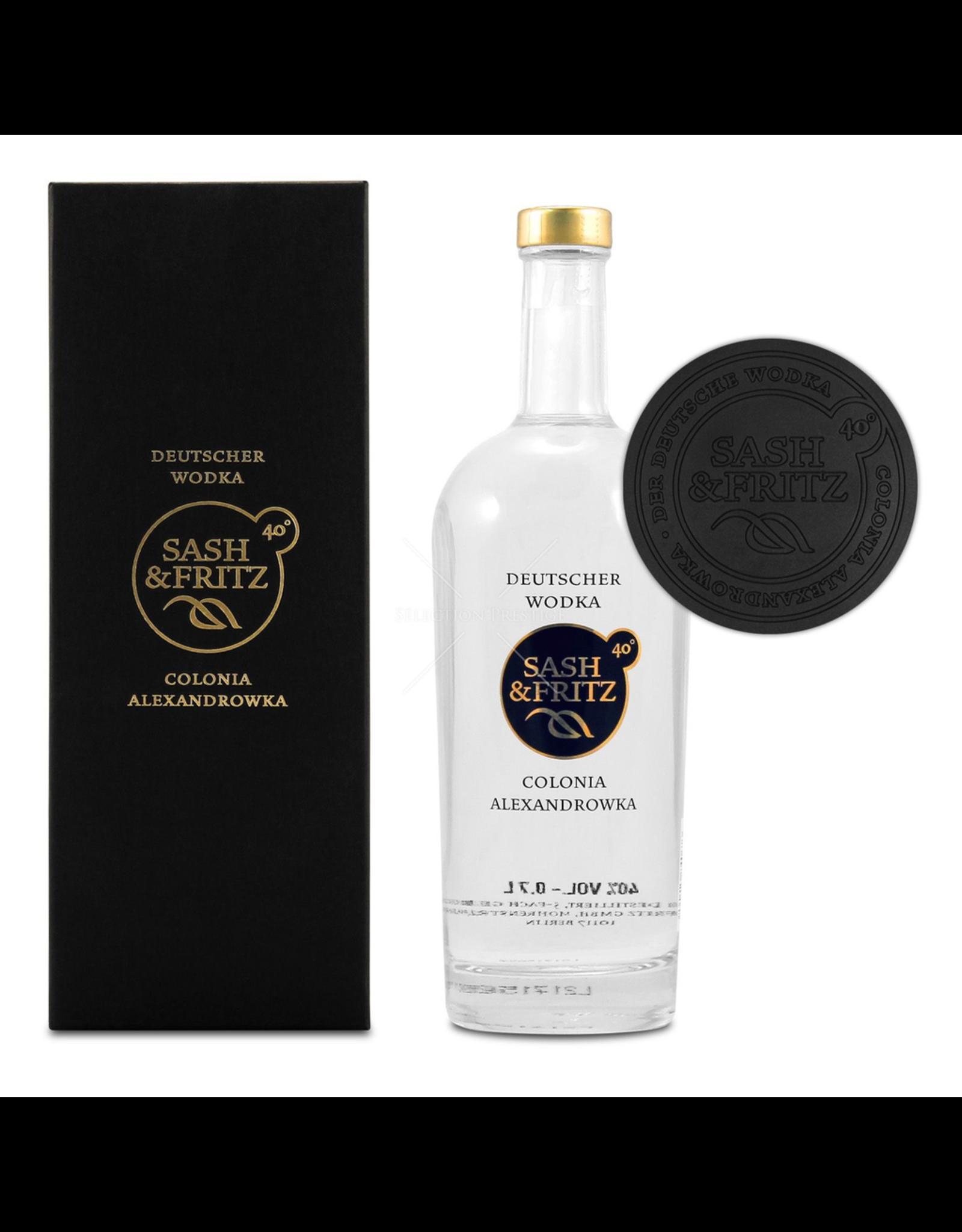 drank SASH & FRITZ VODKA BLACK GIFTBOX 40% 0,7L