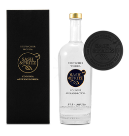 drank SASH & FRITZ VODKA BLACK GIFTBOX 40% 0,7L