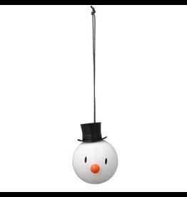 Gadgets WHITE SNOWMAN ORNAMENT