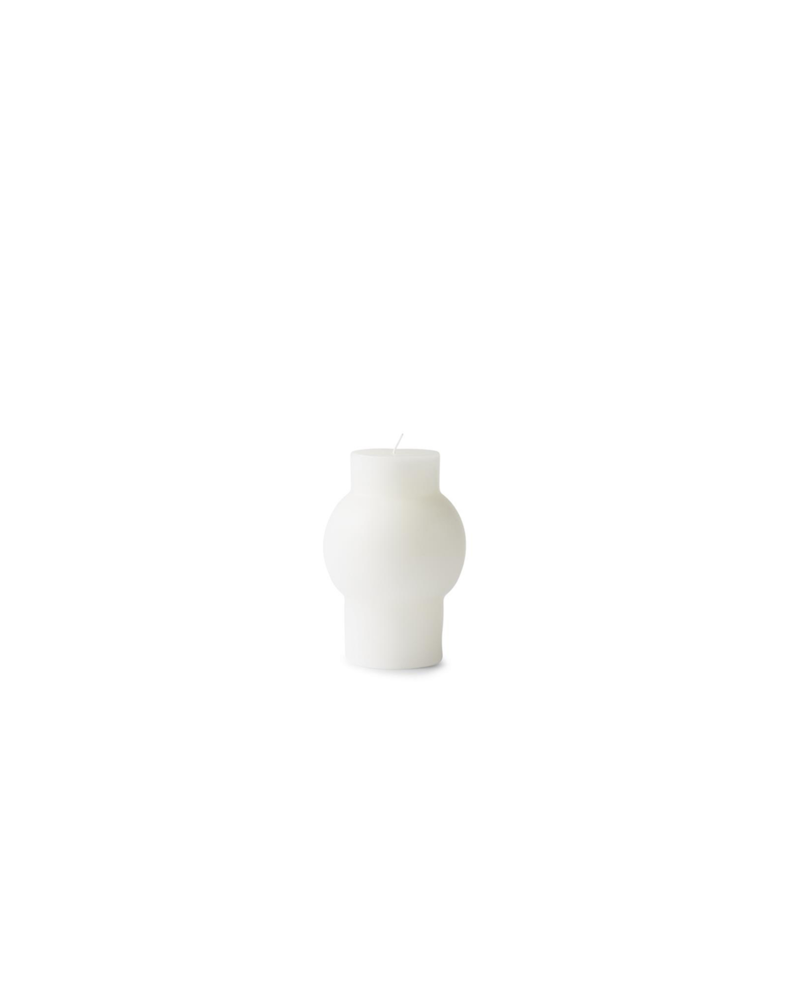 Kaarsen BLOCK CANDLE DOME WHITE