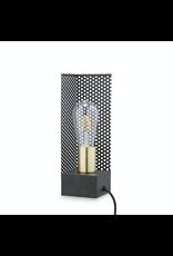 verlichting LAMPE CARREE AVEC FIL 9X9 H: 28CM LAITON NOIR