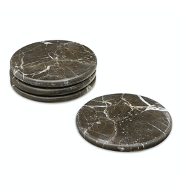 accessoires MARBLE COASTER, 4 PCS, D10CM. , IRISH BROWN
