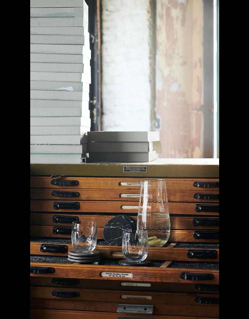 accessoires MARBRE COASTER, 4 PCS, D10CM. , MARRON D'IRLANDE