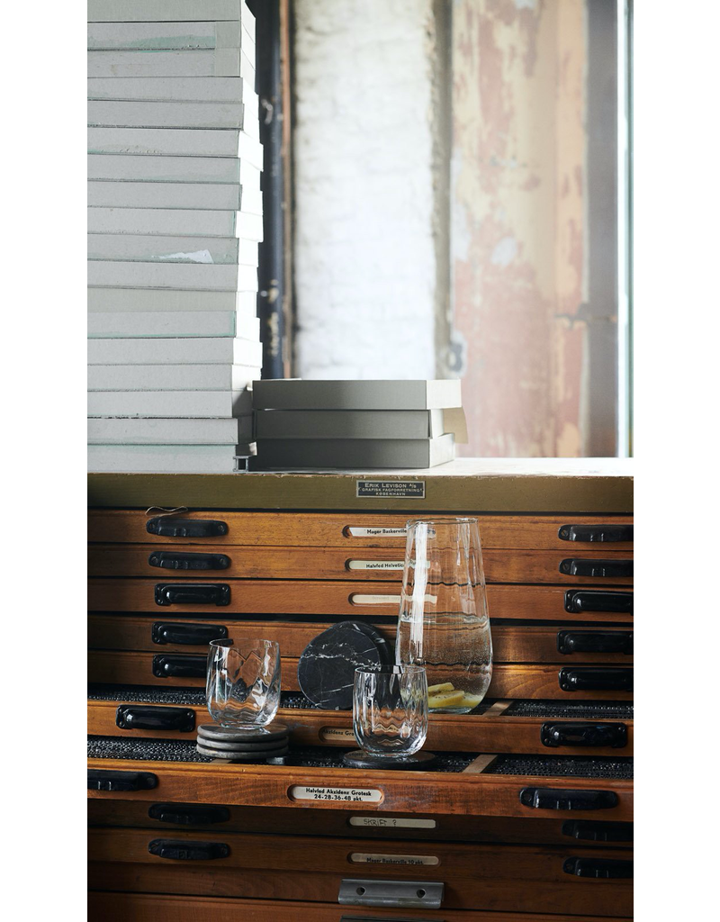 accessoires MARBLE COASTER, 4 PCS, D10CM. , EMPERADOR BROWN