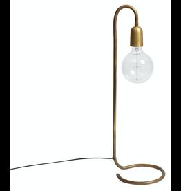 verlichting LAMPE 65CM. FOIR GRAND AMPOULE EN LAITON BRUT