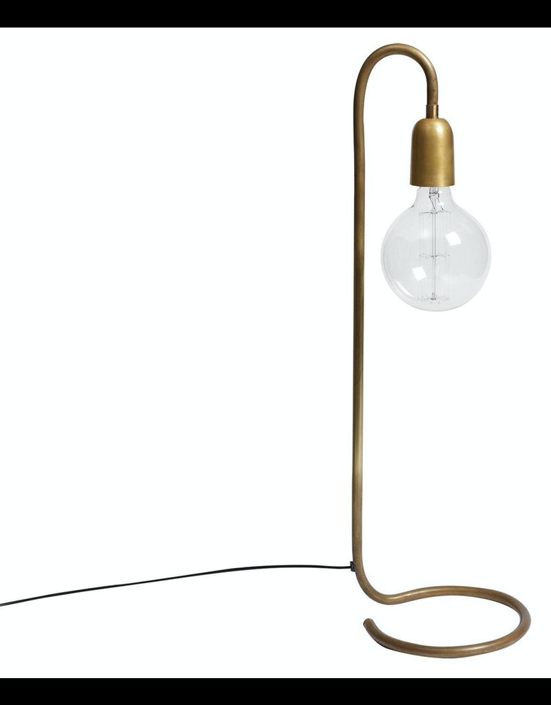 verlichting LAMP 65CM. FOIR LARGE BULB, RAW BRASS