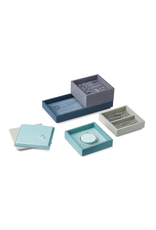 Juwelen STACK Jewellery Box Set L 4pcs set - Blue/Green/Grey/Turquiose