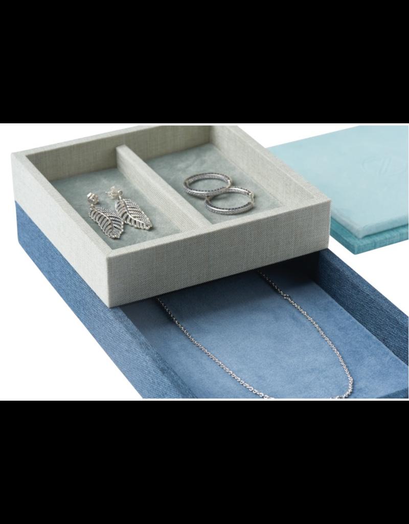 Juwelen STACK Jewellery Box Set L 4pcs set - Blue/Green/Grey/Turquiose