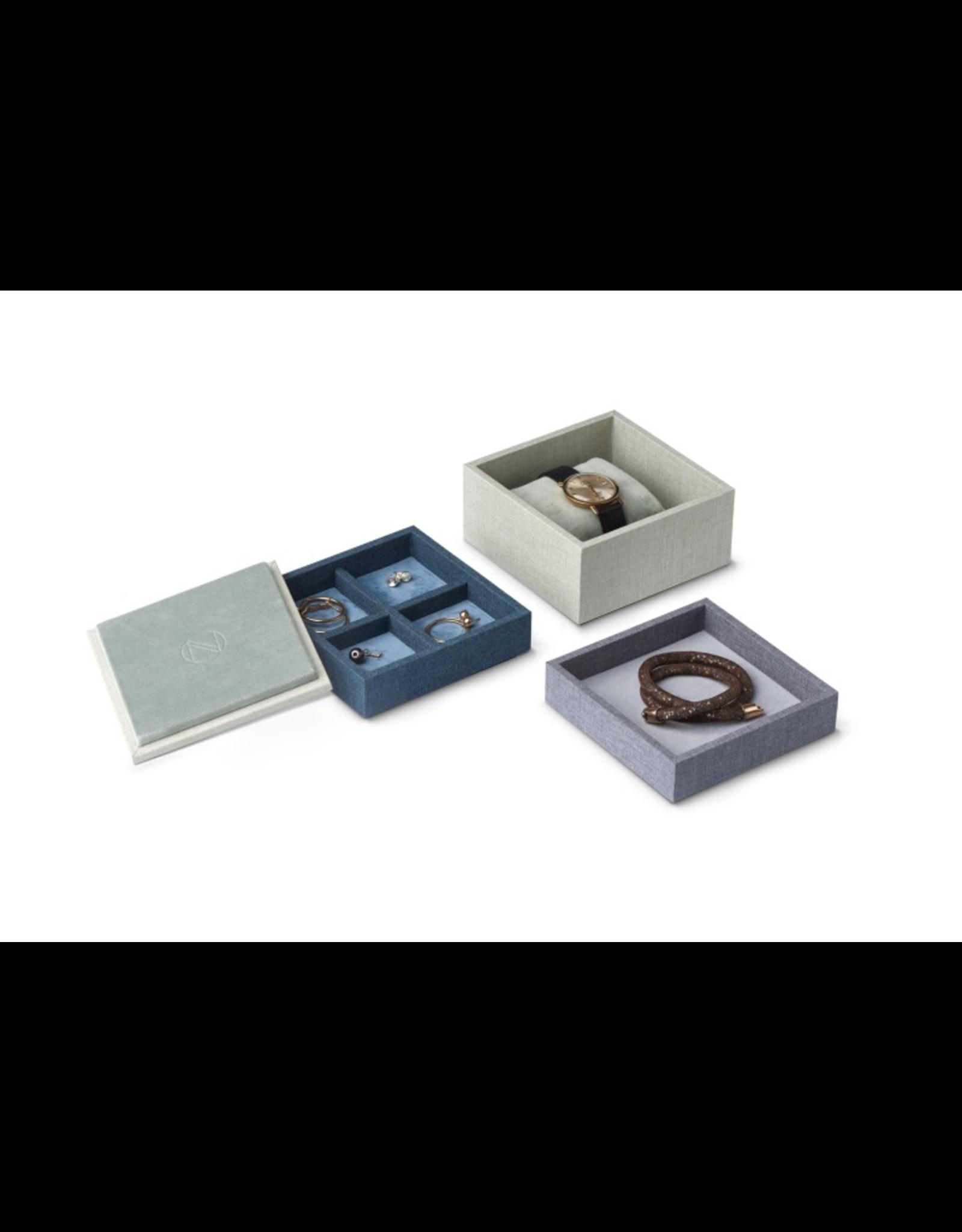 Juwelen STACK Coffret à bijoux S 3pcs - Bleu / Vert / Gris