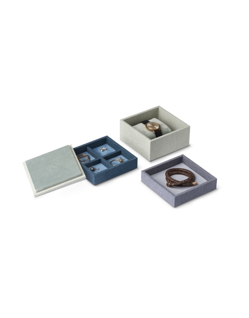 Juwelen STACK Jewellery Box Set S 3pcs set - Blue/Green/Grey