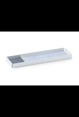 bureau OFFICE REST X Organiser Tray Set 2pcs set. White/Grey