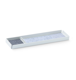 bureau OFFICE REST X Organiser Tray Set 2pcs set. White/Grey