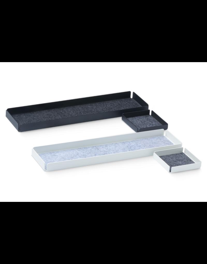 bureau OFFICE REST X Organiser Tray Set 2pcs set. Black/Grey